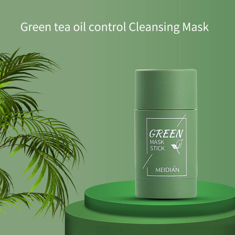 Green Tea Facial Mask Oil Control Acne Cleansing Mask Moisturizing Blackhead And Fine Pores Mud Solid Mask Skin Face Care TSLM2