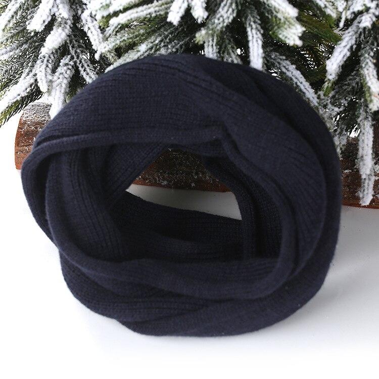 Корейский на осень-зиму кольца Шарф детский маленький шарф в полоску вязаный однотонная, маленькая комбинезон Теплая дутая куртка для мальчиков и девочек зимняя юбка - Цвет: 3