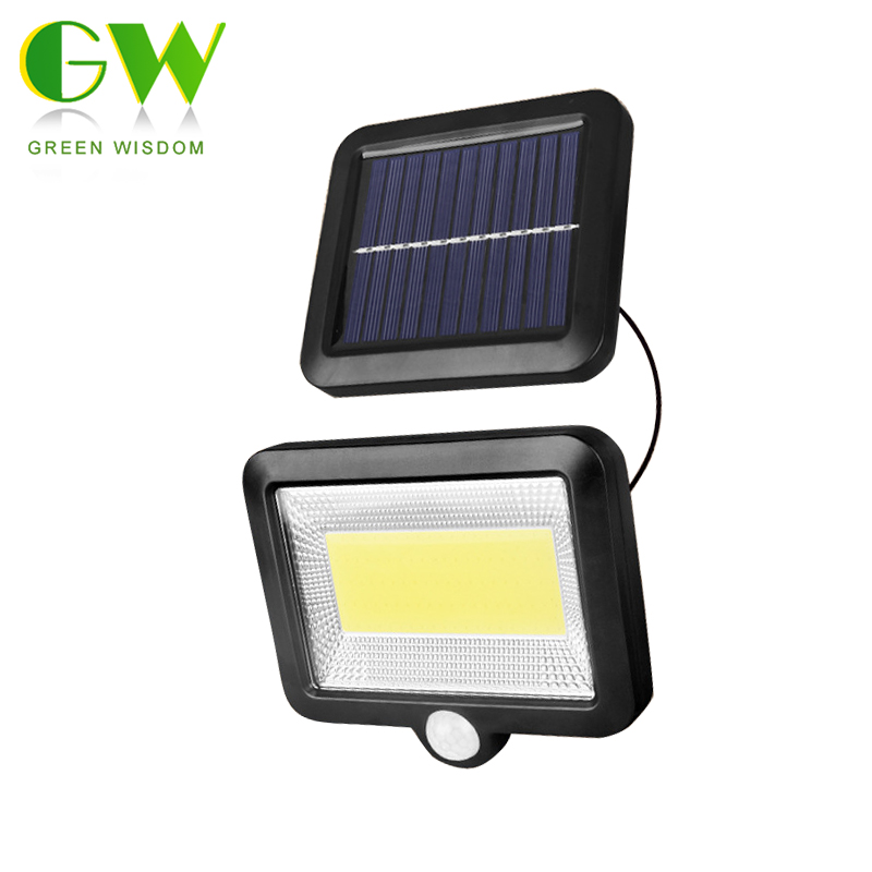 LED COB Solar Lamp PIR Motion Sensor Wall Lamp Outdoor Solar Infrared Sensor Security Light Waterproof Street Lights for Garden