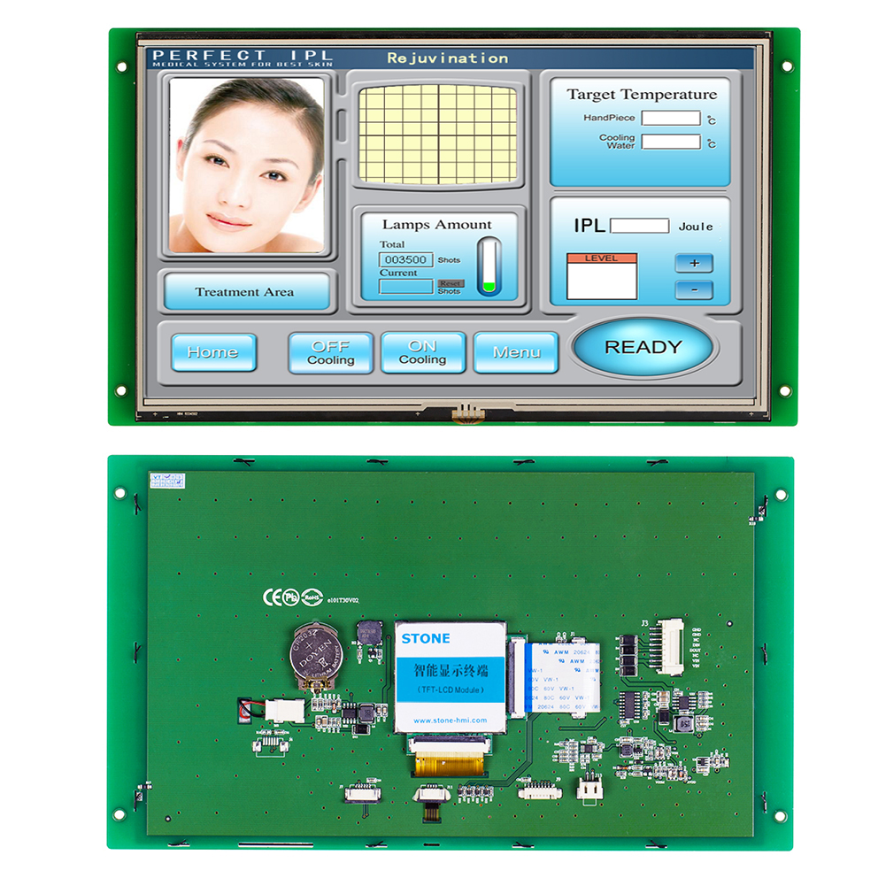 Embedded STONE 10.1 Inch TFT LCD Touch Screen With RS232/RS485/TTL For Industrial Use