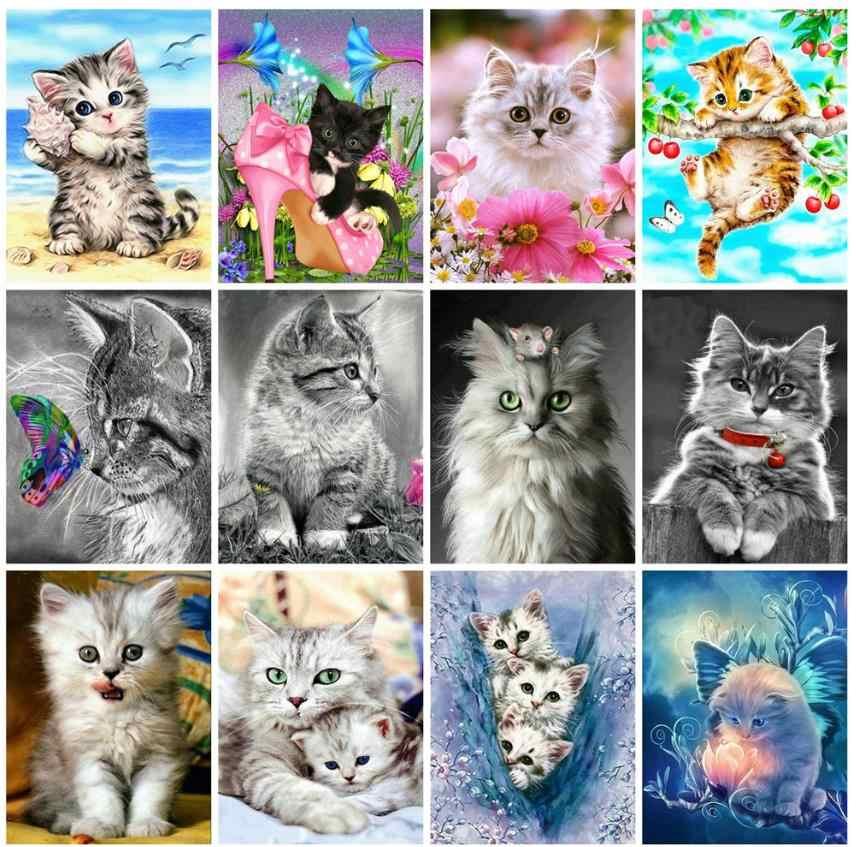 Động Vật Tranh Gắn Đá Full Mèo Khảm NGHỆ THUẬT THÊU Chéo Nữ Thời Trang Đá Hình Xếp Hình Đồ Chơi Trẻ Em Quà Tặng Trang Trí Treo Tường Thủ Công