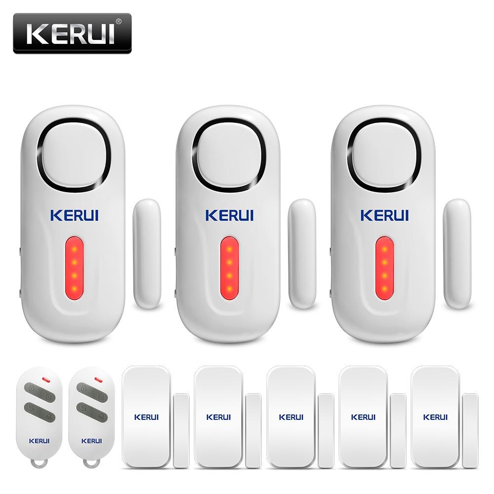 KERUI D2 Door Window Sensor Built-in Siren 120dB Loud Home Security Independent Door Sensor Alarm System With Remote Control