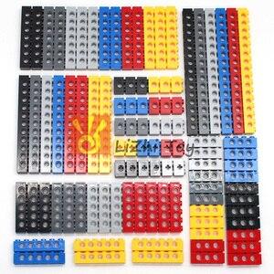 Image 3 - Технические строительные блоки, детали оптом MOC, толстые блоки, аксессуары для комбинации, шипованные длинные лучи, робот, детские игрушки