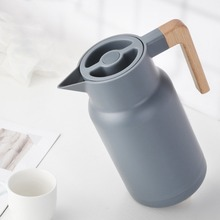 Glass Vacuum Flasks Insulation Thermos 1L Large Household Hot Water Pot Kettle Office Coffee Thermal Warmer Bottles Double Wall