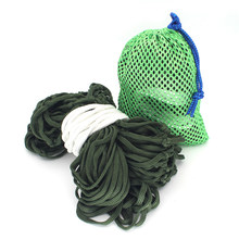 1*Nylon Rope Hammock+1*Mesh Bag Thick Mesh Swing Indoor Haning Seat Chair Outdoor Indoor College Dormitory Adult Chair(China)