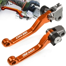 For KTM 350 EXC-F 350EXC-F / SIX DAYS 2014 2015 2016 2017 2018 Motorbike CNC Aluminum Dirtbike handle Folding Brake Clutch Lever new motorcycle cnc aluminum orange rear brake pedal lever for ktm 350 exc f 2012 2015