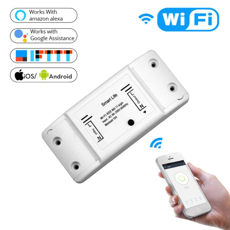 Tuya WiFi Smart Light Switch Universal Breaker Compatible With Alexa Google Home IFTTT App Smart Life Automation Modules Switch