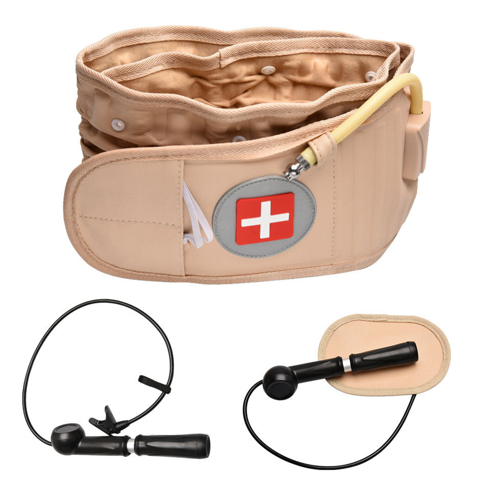 Physical Lumbar Decompression Back Belt Back Support & Lumbar Traction Belt Spinal Air Traction Belt For Lower Back Pain Relief