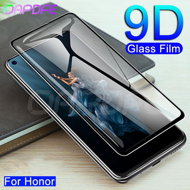 9D Tempered Glass On The For Huawei Honor 8 9 10 20 Lite 9X 8X 20S V20 V10 Screen Protector Safety Protective Glass Film Case