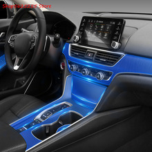 Gear Shift Frame Panel Membrane Protective Film For Honda Accord 2018 2019 2020 Interior Modification Car Styling