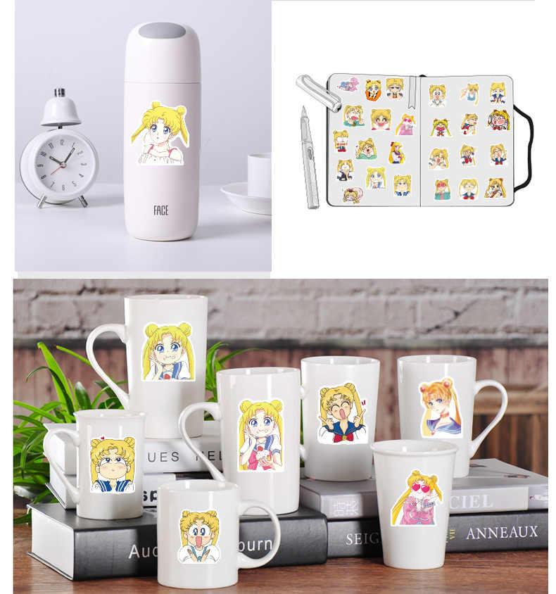 40 ชิ้น/แพ็คKawaii Sailor Moonการ์ตูนกาวสติ๊กเกอร์ตกแต่งDIYไดอารี่สติ๊กเกอร์เครื่องเขียนของขวัญเด็ก