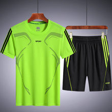 Running breathable casual Shorts New Summer new running suit men's summer fitness quick drying short sleeve shorts sport set men(China)