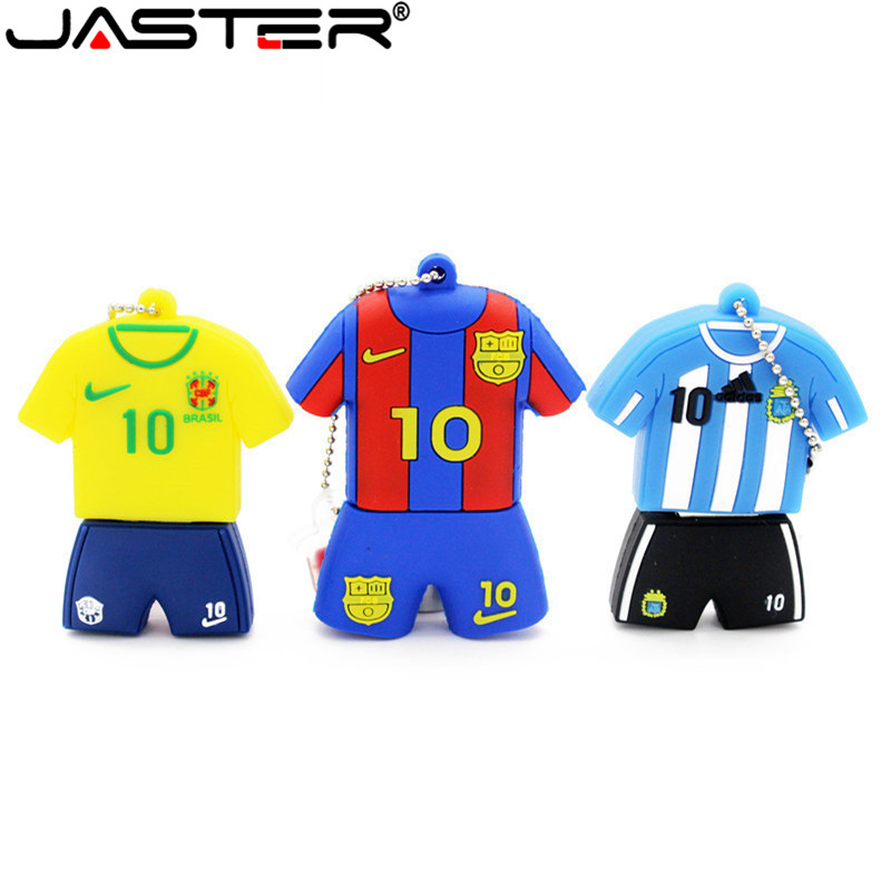 JASTER Lionel Messi Jersey Model Usb 2.0 Flash Drive Argentina NO.10 Pendrive  4gb 8gb 16gb 32gb 64GB Pendrives Usb Stick U Disk