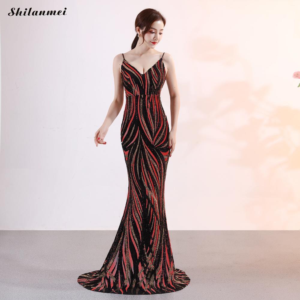 Robe rayée à paillettes femmes robe de soirée à bretelles Spaghetti mode robe de luxe à paillettes dos nu élégante robe longue