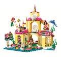306 Принцесса Русалочка строительные блоки кирпичи подводный дворец Встроенная Совместимость с 41063 детские игрушки подарок