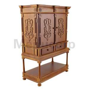 Doll furniture 1/6 scale high quality Handmade wood carving Collection cabinet