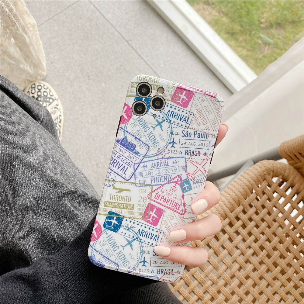 Passport Stamps Travel Phone Case for Iphone