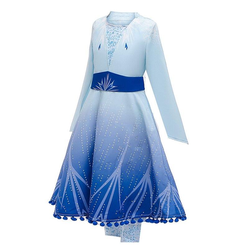 Image 3 - 2020 חדש בנות אלזה שמלת סט נסיכת אנה אלזה קוספליי תלבושות מסיבת יום הולדת נסיכת שמלה לילדים Vestidosשמלותאמהות וילדים -