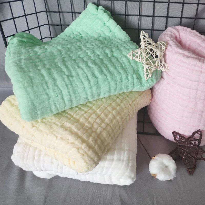 Cotton Gauze Blanket Baby Muslin Swaddle Blankets 6 Layer Baby Bathing Blanket 105x105cm