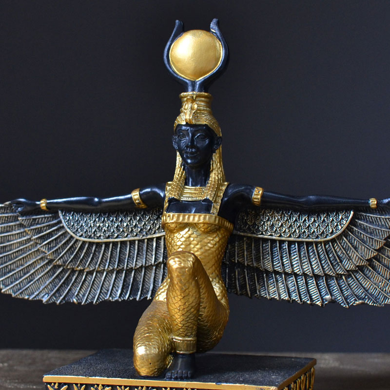 Ancient Egypt Goddess Isis Statue