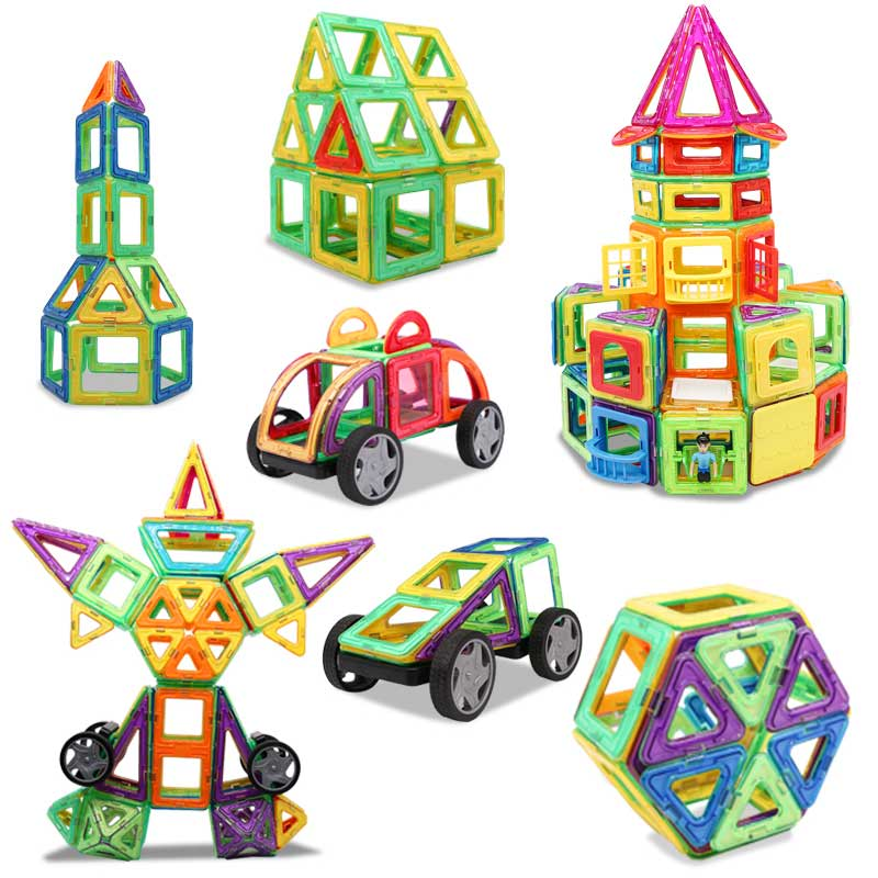 22 89 pcs Magnetic building block set plastic magnetic building block children