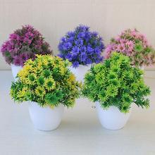 лучшая цена 2019 New Arrival Artificial Plant Bonsai Fake Succulent Potted Ornament Home Hotel Garden Decor Desktop Plants