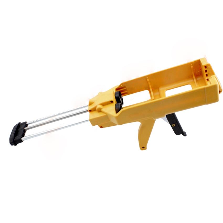 Manual Applicator Gun Dual Component Adhesive Cartridge Applicator Double Caulking Gun For Tile Construction Tools Yellow
