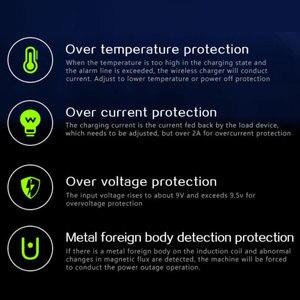 Image 3 - 10 ワット自動クランプワイヤレス充電器自動車電話ホルダー samsaung 高速ワイヤレス充電 × 8 チーワイヤレス充電器
