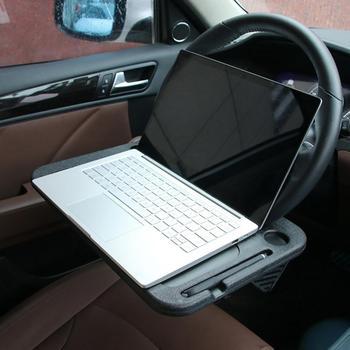 Samosterujące koło do samochodu jedzenie jedzenie hak na laptopa do tabletu na biurko samochód podróżny stół fotelik samochodowy biurko komputerowe notatnik podróżny
