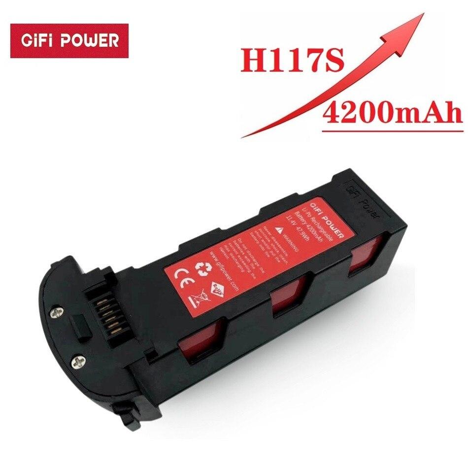 Atualize 11.4v 4200mah bateria para hubsan h117s zino gps rc quadcopter peças de reposição 11.4v bateria para rc fpv que compete drones da câmera|Baterias para drone|   -