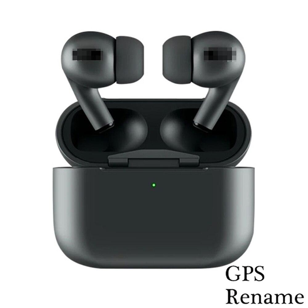 New Super Blackpods Pro Tws Bluetooth Earphones Positioning Rename Smart Sensor Wireless Charging Noise Reduction Microphone