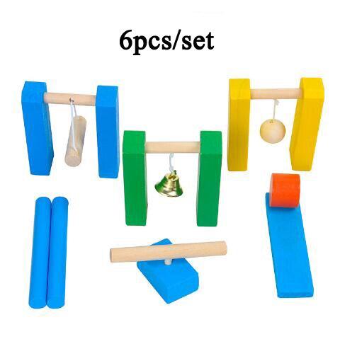 Игрушки домино, детские деревянные цветные блоки домино, наборы для раннего обучения, игры домино, Развивающие Детские обучающие игрушки ZXH - Цвет: 6pcs ji guan