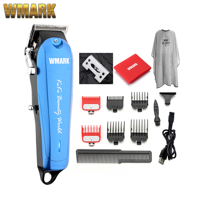 WMARK NG 103Plus المهنية مقص الشعر اللاسلكي الشعر المتقلب 6500 دورة في الدقيقة مقص الشعر قابل للتعديل طول مع شفرة ستاغر الأسنان