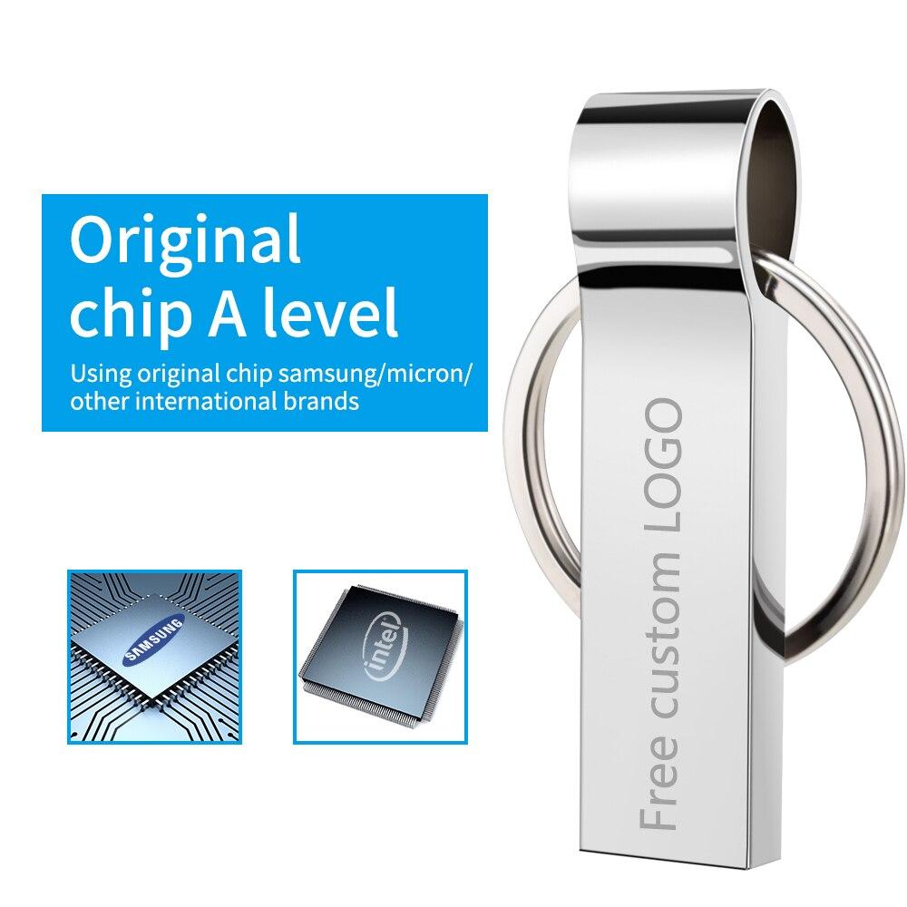 Hot metal pendrive 128GB 64GB usb flash drive 32GB 16GB Key pen drive 8GB flash memory stick cle usb 2.0 u disk Free print LOGO (14)