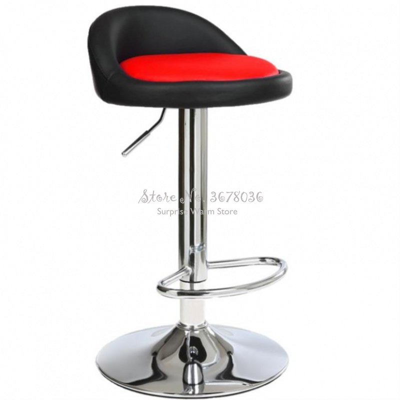 Lifting Bar Chair Leather Seat Simple High Stool Rotating Bar Stool Chair Home Fashion Metal Bar Chair Cash Register Stool