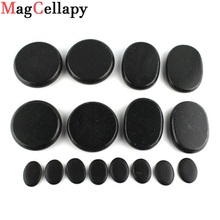 16 pcs Energy Massage Stones Massage lava Natural Energy Massage Set Hot Spa Rock Basalt Body