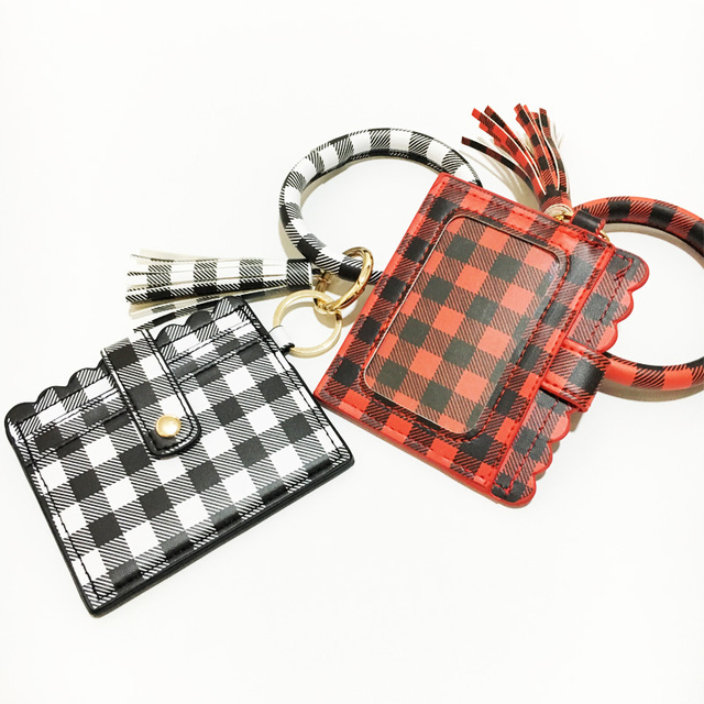 2020 nowy Leopard Kaba wąż bransoletka z PU portmonetki torba dla dziewczyny kobiety bransoletka Mini portfele pojemnik na pieniądze karty brelok do kluczy z pomponem