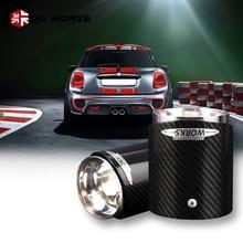 цена на 1PC Car Carbon Fiber Exhaust Tip Muffler Tips For MINI Cooper R55 R56 R57 R58 R59 R60 R61 F54 F55 F56 F57 F60 Accessoreis