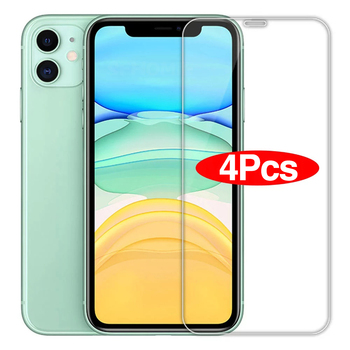 4PCS Full Cover Curved Protective Glass On For iPhone 11 12 pro Max Screen Protector Tempered Glass For iPhone X XR XS Max Glass 1