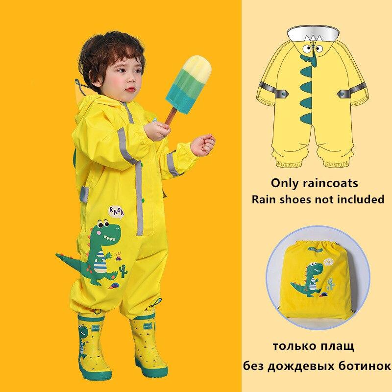 Chubasquero de unicornio de dibujos animados para niños, chubasquero para bebés, Poncho para niños y niñas, traje de lluvia Siamés para estudiantes de escuela primaria