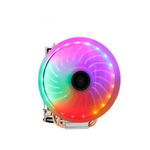 4-контактный 2 тепловых трубки ПК Вентилятор охлаждения RGB светодиодный радиатор ЦП для LGA/775/115X/1366/AM4/AM3/AM2 +/AM2/2011