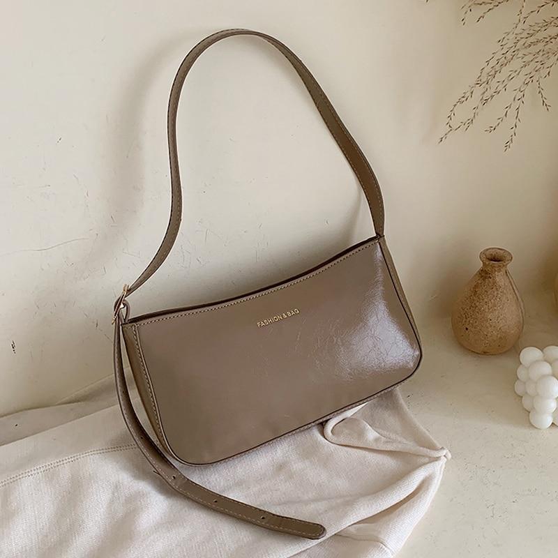 Casual Designer Baguette Shoulder Bag for Women 2019 Solid Small Leather Women Messenger Handbags Female Totes Clutch Bag
