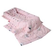 Портативная детская кроватка Хлопок Младенческая Детская кроватка корзина для сна Безопасность Защита дорожная подушка для колыбели съемное постельное белье