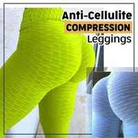 Anti Cellulite Compression Leggings Oppressing Mesh Fat Burner Design Weight Loss Yoga Leggings Compression Slimming Products