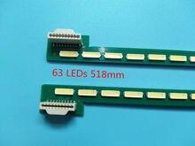 Novo 5-conjunto = 10 pces 63led 518mm tira de luz de fundo led para lg 47la6600 6922l-0071a 0029a 6916l119b 6920l-0001c 47