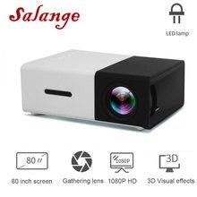 Salange YG300 проектор мини lcd светодиодный проектор 400-600 люмен 320x240 пикселей лучший видео проектор для детей