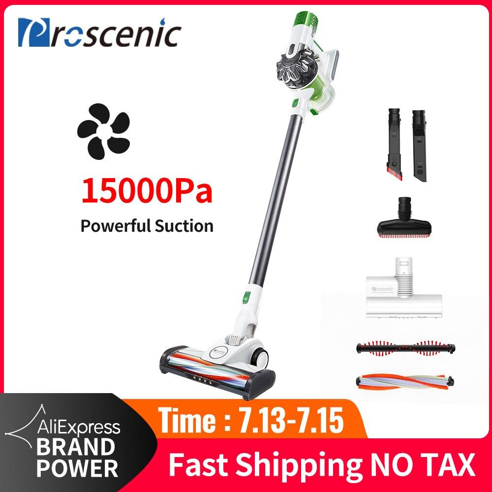 Proscenic Led-Light-Stick Vacuum-Cleaner Cordless Handheld Portable Powerful 15000pa
