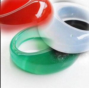 Чистое Натуральное 4 цвета Jades Banzhi кольцо халцедон палец кольцо большой размер Кристалл для женщин и мужчин камень ювелирные изделия