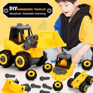 Image 1 - להסרה הנדסת רכב רכב סטיילינג בני ילדים Dump מסלולים חינוכיים דגם Diecast מכוניות צעצוע ילדים