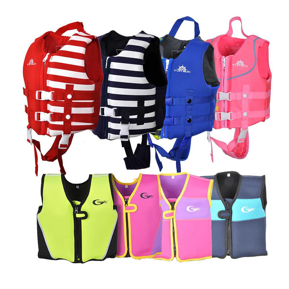 YONSUB gilet de vie pour enfants, gilet de vie professionnel pour enfants vestes d'apprentissage de la natation veste de vie de natation gonflable pour enfants gilet de flottabilité pour enfants